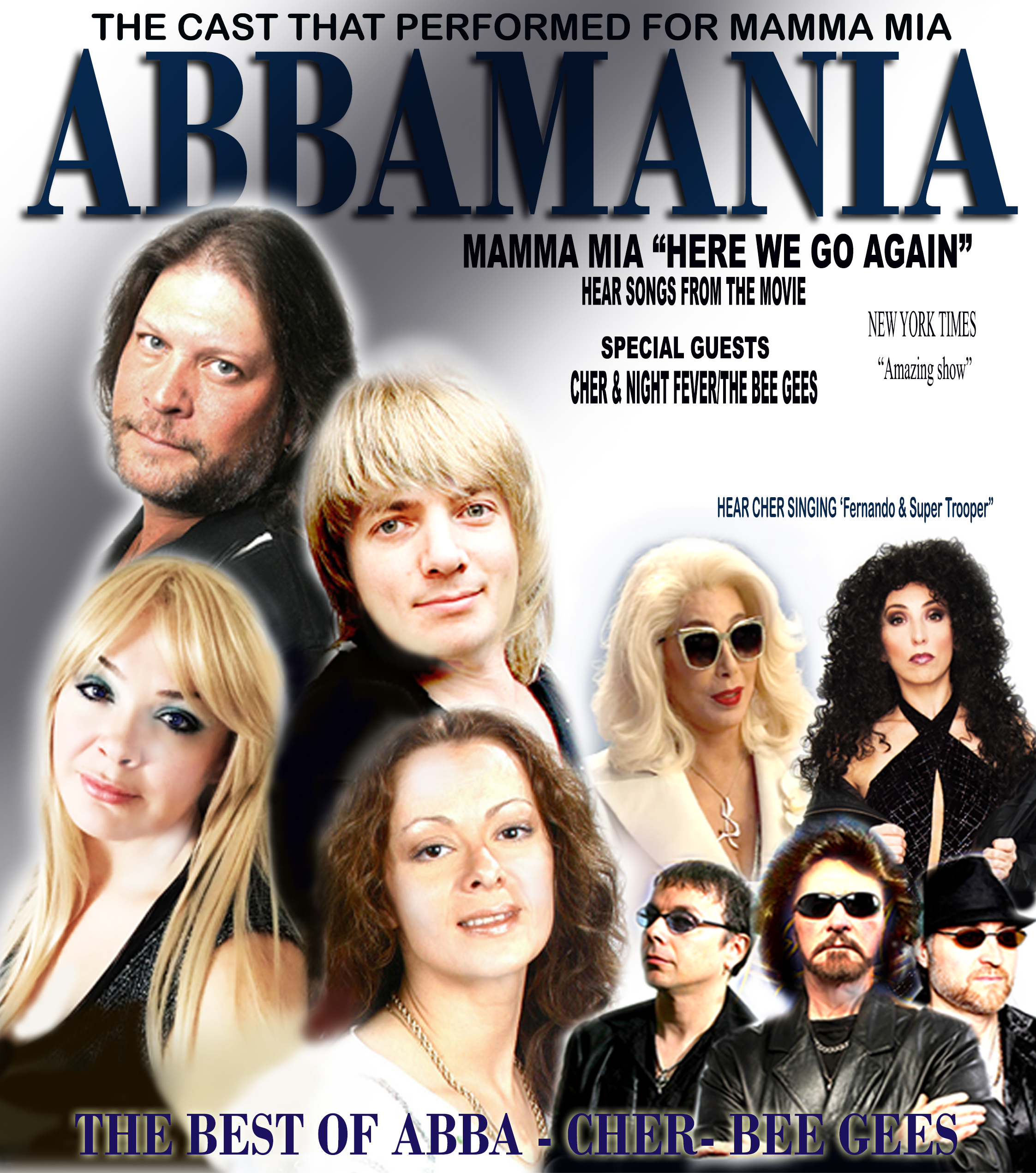 Abbamania Canada and Night Fever Poster