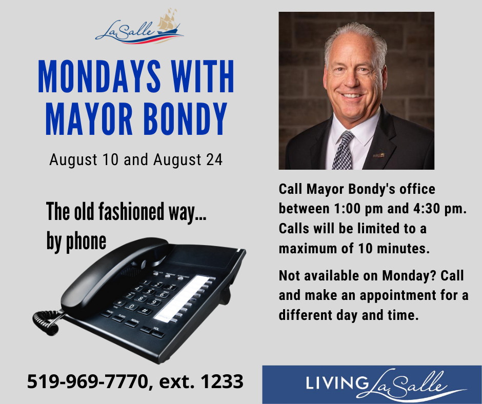Mondays with the Mayor Flyer