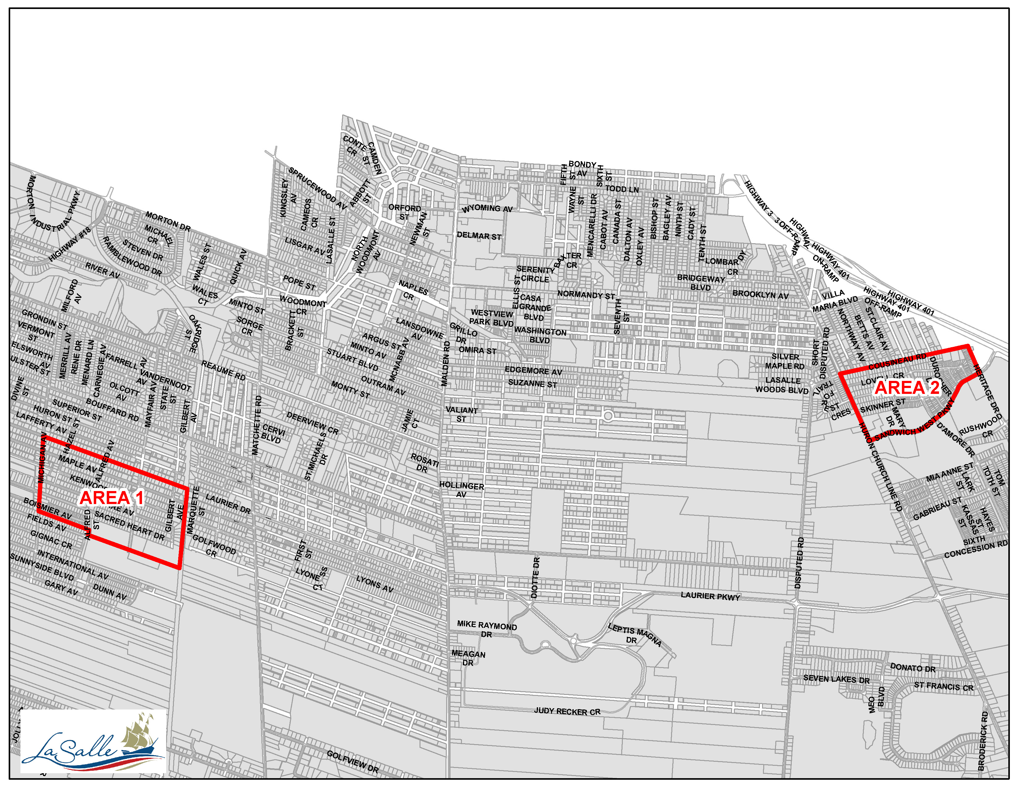Hydrant Maintenance Map - Areas 1 and 2